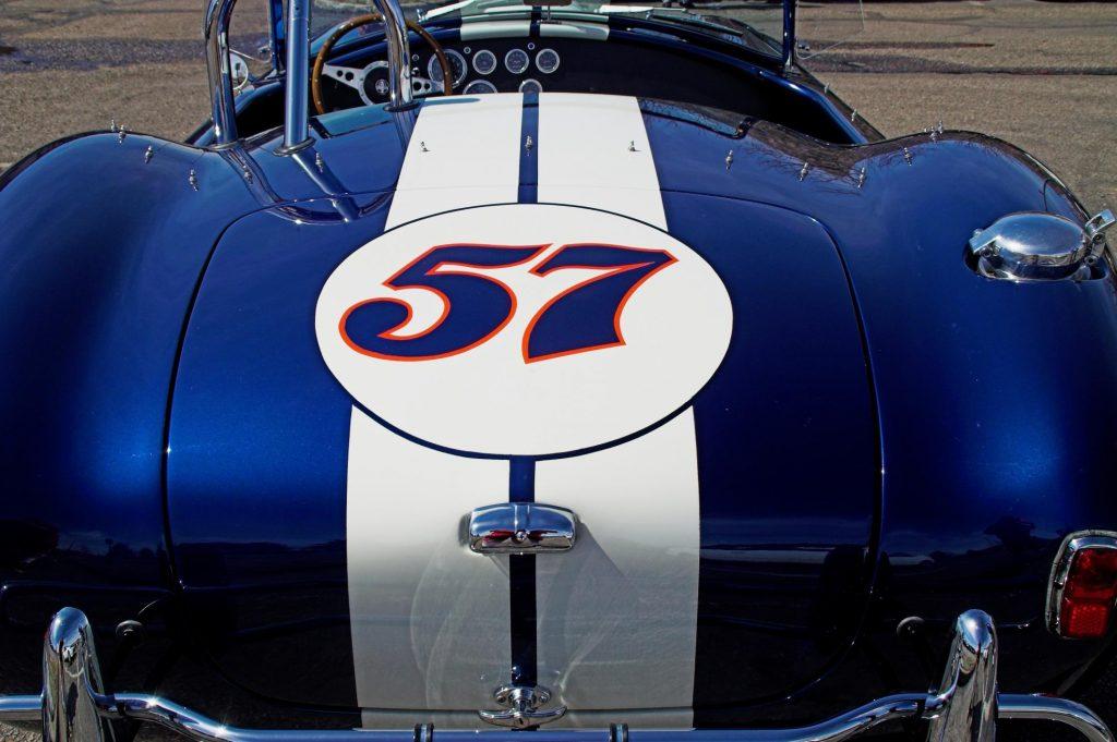 a blue racing car
